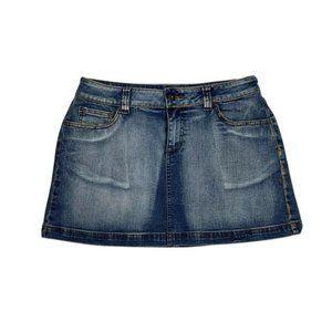 Denim relaxed blueJean Mini Skirt sz 16 Cotton